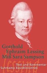 Miß Sara Sampson: Ein bürgerliches Trauerspiel in fünf Aufzügen (Suhrkamp BasisBibliothek)