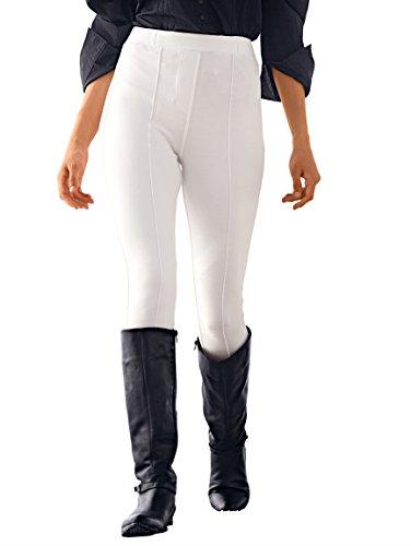 Damen Hose aus weichem Romanit in formstabiler Form und pflegeleichter Qualität by KLiNGEL Weiß