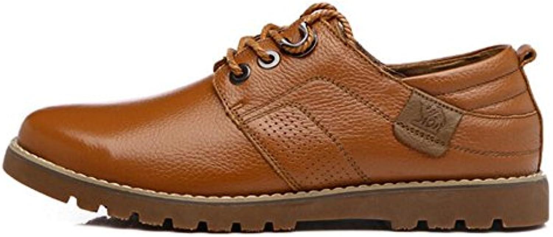 Fruumlhling neue Leder Business Casual Herrenschuhe Herren Lederschuhe Comfort Walking Schuhe Split Joint Lace up