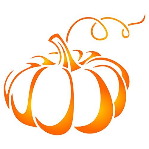 (Kürbis Schablone–wiederverwendbar Urlaub Halloween Gemüse Wand Schablone–Vorlage, auf Papier Projekte Scrapbook Tagebuch Wände Böden Stoff Möbel Glas Holz etc. L)