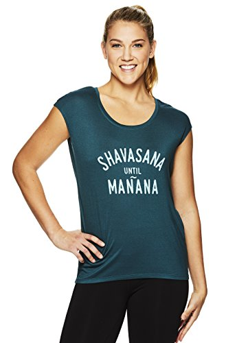 Gaiam Damen Dani Yoga Kurzarm Graphic T-Shirt – Workout Top für Frauen