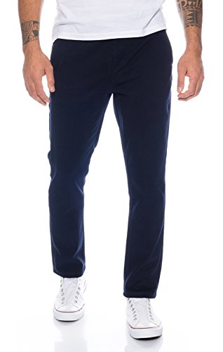 Baumwolle Chino-hosen (Rock Creek Herren Designer Chino Hose Regular Slim Chinohose RC-390 Navy W34 L30)