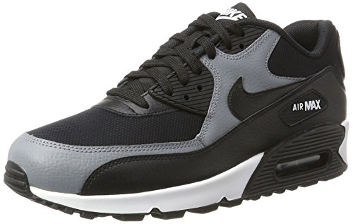 Nike Damen Air Max 90 Sneaker, Schwarz (Black/Black-Cool Grey-Black), 42.5 EU