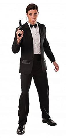 Herren-Kostüm Secret Agent Smoking James Bond 007 Geheimagent, Größe:L/XL (James Bond 007 Kostüme)