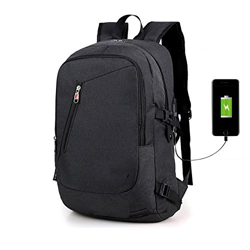 526b450b38 Chikencall Sac à Dos pour ordinateur Portable Avec USB Voyage d'affaires  Collège Sac à