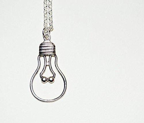 Leuchtmittel Charme (Glühbirne Halskette, Leuchtmittel Anhänger, Glühbirne Charme, Idee Halskette, Glühbirne Silhouette, Leuchtmittel Halskette, Leuchtmittel Halskette,)