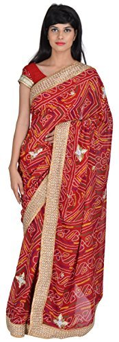 tanishq-designers-womens-georgette-saree-red