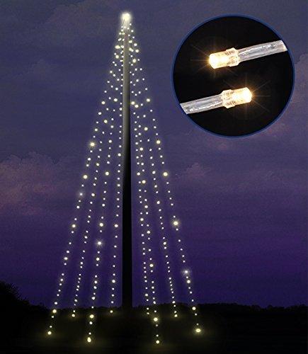 Fahnenmast Lichterkette mit 400 LEDs
