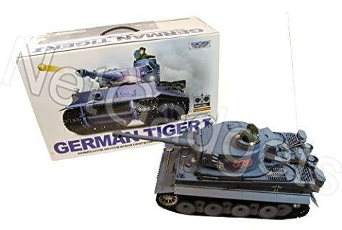 Heng Long 1:16 Scale German Tiger I RC Tank Ready to Run - Full Metal Upgrade (Tracks, Sprocket, Gear Box)