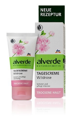 Alverde Wild-Rose Smoothing Hydrating Day Cream (Restores Radiance) - Vegan/No Animal Testing - 50ml by Alverde Natural Cosmetic - Restore Day Cream