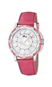 Reloj analógico Lotus 15747/6 de cuarzo para mujer con correa de piel, color rosa