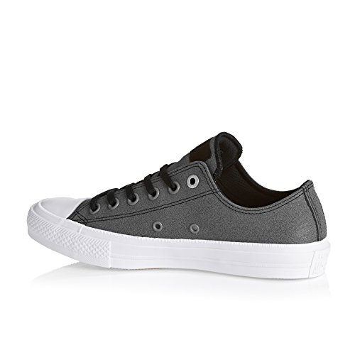 Converse Mens Chuck II Two Tone Leather Trainers noir/blanc