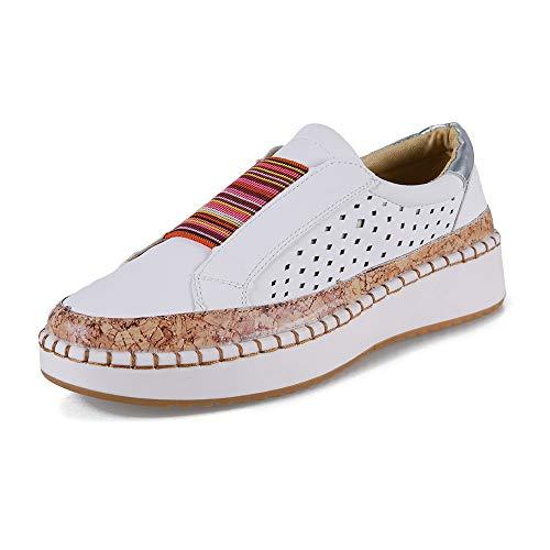 Mocasines Mujer Plataformas Slip On Plano Loafers Bajas Zapatillas Casual Zapatos Comodo Caminar Ligeras...