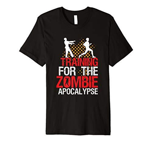 Funny Running Fitness T-Shirt Training für Zombie -