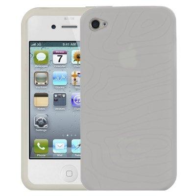 Logotrans Design Series Silikon Schutzhülle für Apple iPhone 4 schwarz Transparent