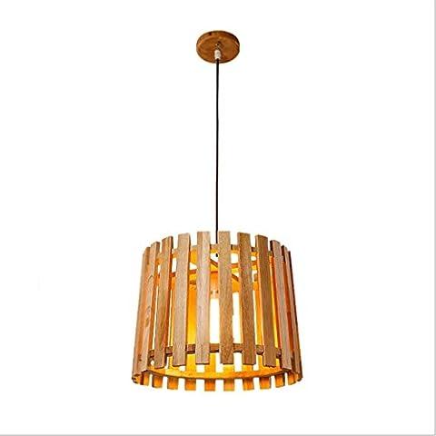 GRFH Handmade Wooden Pendant Lights Wooden Dining Room Chandelier Lighting Chandeliers Ceiling Lights Shade Diameter 26Cm * High 26Cm Wooden