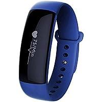 BreLINE Pulsera Inteligente de Fitness Podómetro, Calorías,Mensaje de Alerta, Monitor de Sueño de Teléfonos Deportes Pulsera para Podómetro,Smart Phones iPhone y Android o Incluye Superior