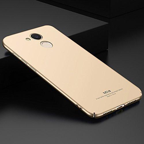 Huawei Honor V9 Play Hülle, MSVII® Sehr Dünn Hülle Schutzhülle Case Und Displayschutzfolie für Huawei Honor V9 Play - Lila JY00376 Gold