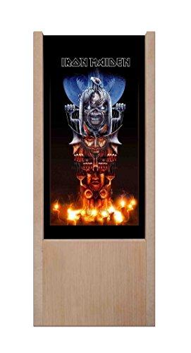Lámpara de mesa de madera Iron Maiden