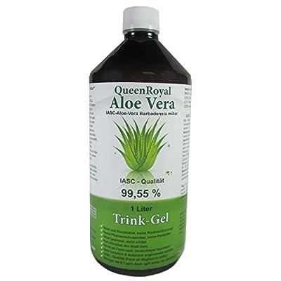 QueenRoyal Aloe Vera Gel 99.55% Pure IASC, Quality, 1 Litre Bottle, # 30225 by Naturheilmittel Heilsteine Methusalem GmbH