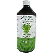 QueenRoyal Aloe Vera Trink Gel 99.55 % pur, IASC - Qualität, 1 Liter Flasche, #30225