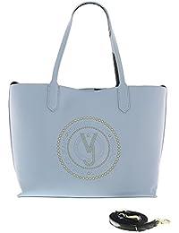 Versace - Bolso de asas para mujer Azul azul 40 x 14 x 28 cm