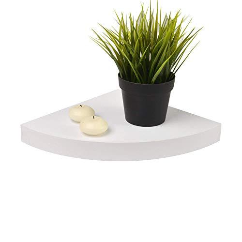 Moorland® mensola angolare con sistema di fissaggio a scomparsa pegasus - colore: bianco - 25x25x3,4cm - alta portata