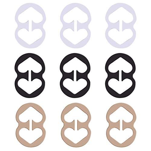 9Pcs BH Träger Clip BH Bügel Konverter Concealer Racerback Clip Spaltung Control - Damen BHS Halter Bra Traeger Clip Clips Anti-Rutsch BH-Clips BH-Träger BH Träger Clips Bra Anti-Rutsch Halter