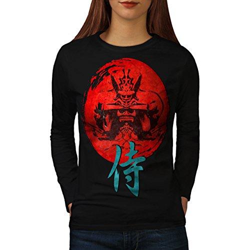 japonais-rouge-symbole-asiatique-femme-nouveau-noir-xl-t-shirt-manches-longues-wellcoda