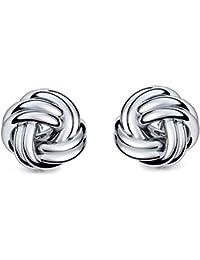 Ohrstecker Knoten Silber 925 Damen Knotenohrstecker Silber GRATIS LUXUS  ETUI Knoten-Ohrringe mit Stecker Schmuck 9753607da5