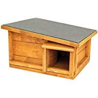 The Hutch Company Hedgehog House And ibernation Shelter – Habitat, mangiatoia e casa – Tetto in Feltro e Pavimento in Legno – Best Pet Garden Hedgehogs House in Legno