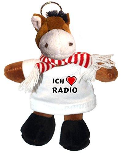 sselhalter mit T-shirt mit Aufschrift Ich liebe Radio (Pferd-radio)