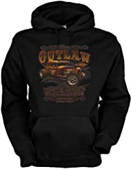 Hot Rod Garage Baumwolle, Kapuzensweatshirt The outlaw hot rod cooles Design mit heißem Auto