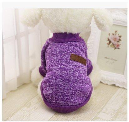 Leafii's Pet Wolle Kleidung Teddy Bear Xiong VIP Herbst und Winter Pullover Welpen Katze Welpen Kleidung lila S (Lila Welpe-kleidung)