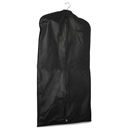 Kleidersack Kleiderhülle mit Reißverschluss schwarz verschiedene Längen und Varianten (Classic Edtition 120cm) (Länge Reißverschluss-schwarz)