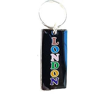 London Word metal Key Ring / Keyring / Key Chain / Keychains! Artistique! / Künstlerisch! / Artistico! / artístico! Charming British Collectable! Charmant! / Reizend! / Affascinante! / Encantador!