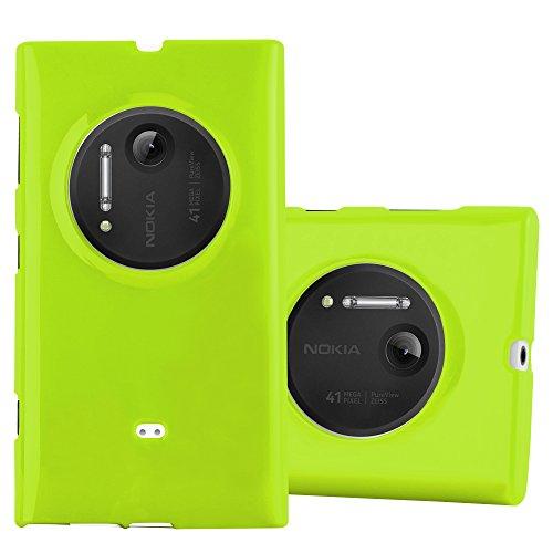 Preisvergleich Produktbild Cadorabo Hülle für Nokia Lumia 1020 - Hülle in Jelly GRÜN – Handyhülle aus TPU Silikon im Jelly Design - Silikonhülle Schutzhülle Ultra Slim Soft Back Cover Case Bumper