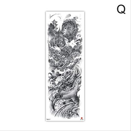 XMDS Tattoo Aufkleber Arm Ärmel Tattoo Skizze Löwe Tiger Wasserdicht Temporäre Tätowierung Aufkleber Wild Wildtier Person Voller Vogel Totem TattooQ