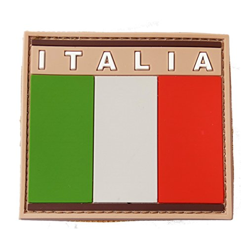 Italian Flag Patches (Pvc Rubber Moral Patch Italian Flag Airsoft Army Style)