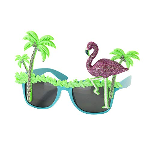 Preisvergleich Produktbild Talking Tables FST6-SUNNIES-PALMT Tropische Fiesta Sonnenbrille,  Palme und Flamingo,  mehrfarbig