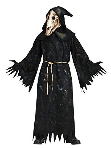 Pferde Schädel Dämon Halloween Kostüm schwarz grau (Pferd Skelett Kostüm)