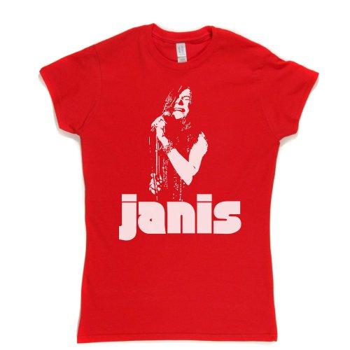 Janis Joplin Womens Fitted T-Shirt Rot