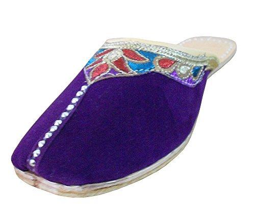 kalra Creations Mujer Tradicional Indio Étnico De Piel De Zapatillas Para Pisos, color Multicolor, talla 37,5 EU M