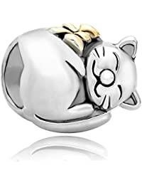 Pugster Cat Animal Charms 925 Silver Jewellery New Sale Cheap Bead Fits Pandora Chamilia Charm Bracelet Gifts