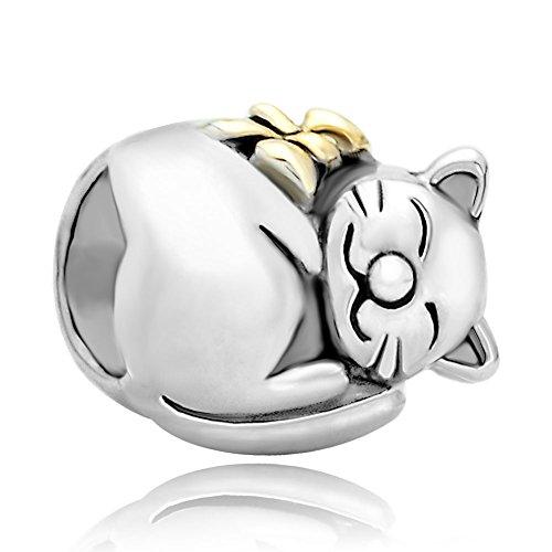 Animal de gato Pugster 925 colgantes plata venta nuevo barato compatible con joyas Pandora Pulsera Chamilia de regalos