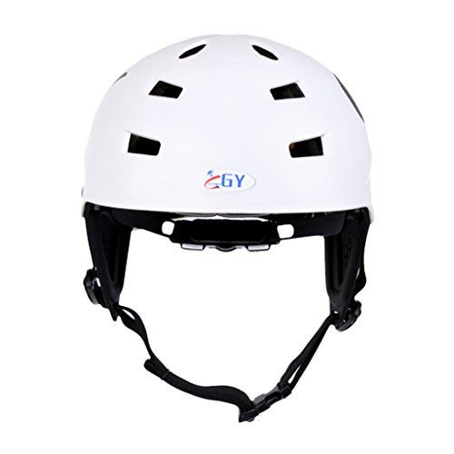 Sharplace CE Approved White XL 63-65cm Safety Helmet with Air Vents for Water Sport Canoeing Kayaking Wakeboarding Head & Ear Protection
