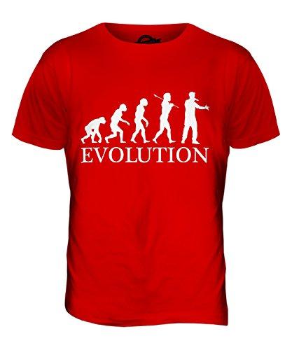 CandyMix Rap Rapper Evolution Des Menschen Herren T Shirt Rot
