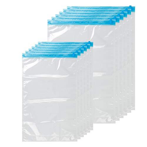 Gqc sacchetti salvaspazio set da 12 pz buste sottovuoto immagazzinaggio a vuoto pompa senza bisogno rulli di mano e risparmio di spazio per viaggio vestiti asciugamani
