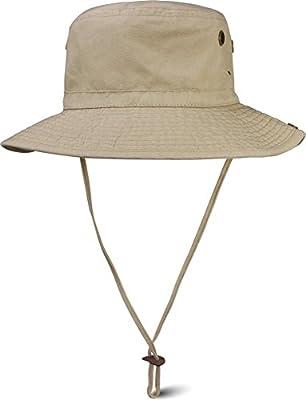normani Sommer Outdoor Sonnenhut mit Kordelzug und umklappbarer Krempe UV-Schutz 50 + von normani - Outdoor Shop