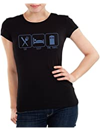 Getting Shirty Eat Sleep Time Travel (inspired by Doctor Who) Womens T-Shirt